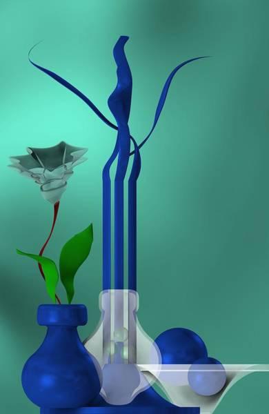 Bluish Still Life Growing Poster