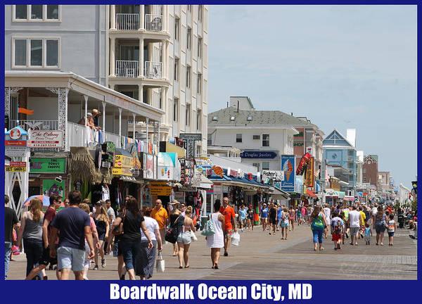 Boardwalk Ocean City Md Poster
