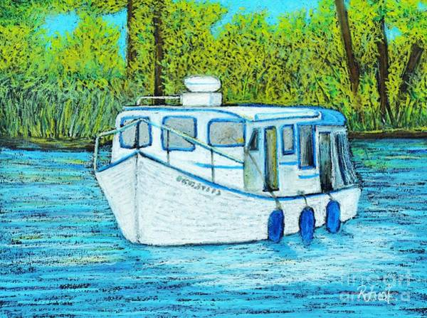 Boat On The River Poster