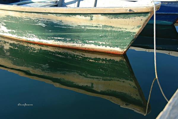 Poster featuring the photograph Boat Reflection by AnnaJanessa PhotoArt