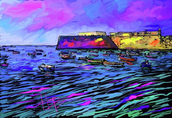 Boats In Cadiz, Spain Poster