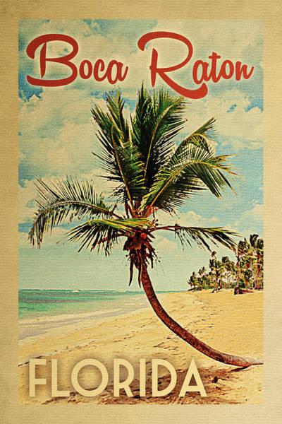 Boca Raton Florida Palm Tree Poster