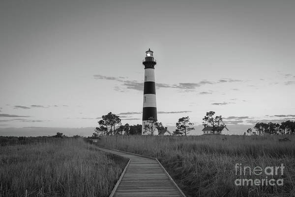 Bodie Island Lighthouse Bw Poster