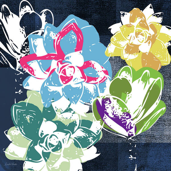 Bold Succulents 2- Art By Linda Woods Poster