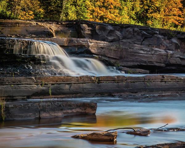 Bonanza Falls - Big Iron River, Silver City, Mi Poster