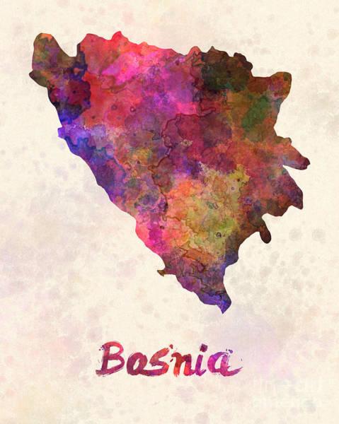 Bosnia In Watercolor Poster