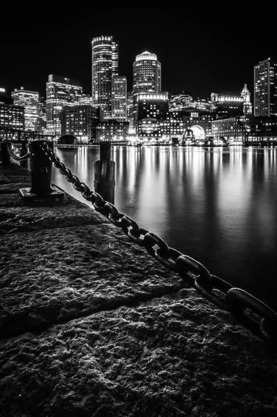 Boston Harbor At Night Poster