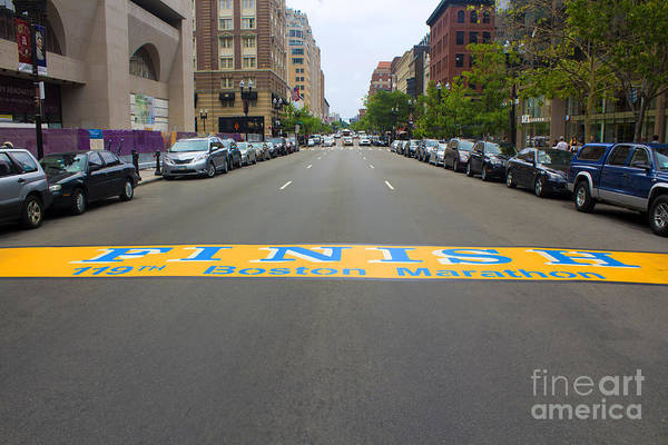 Boston Marathon Finish Line Poster