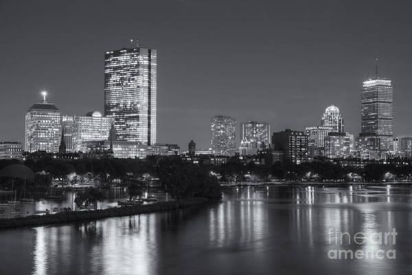 Boston Night Skyline V Poster