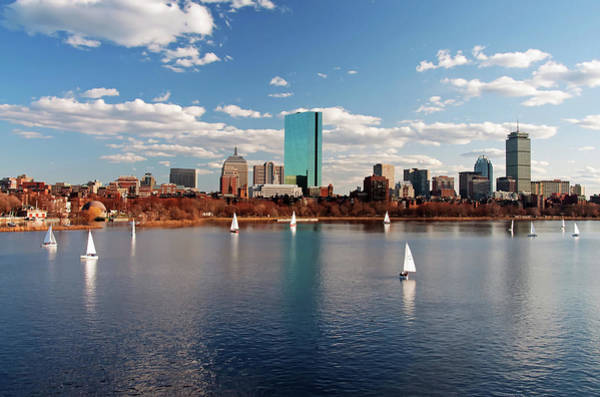 Poster featuring the photograph Boston On The Charles  by Wayne Marshall Chase