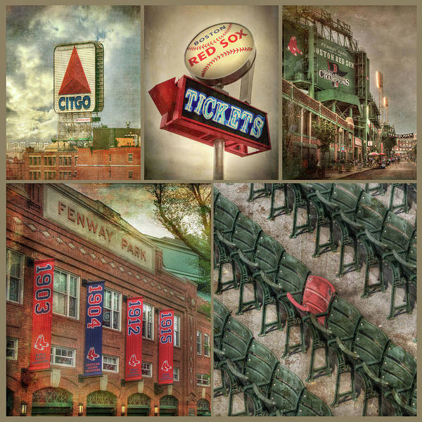 Boston Red Sox Fenway Park Collage Poster