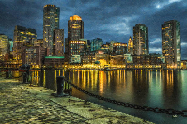 Boston Skyline At Night - Cty828916 Poster