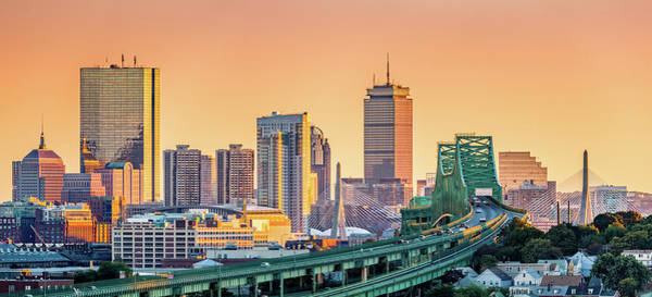 Poster featuring the photograph Boston Skyline by Mihai Andritoiu