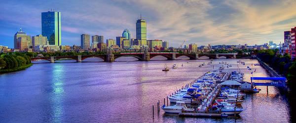 Boston Skyline Sunset Poster