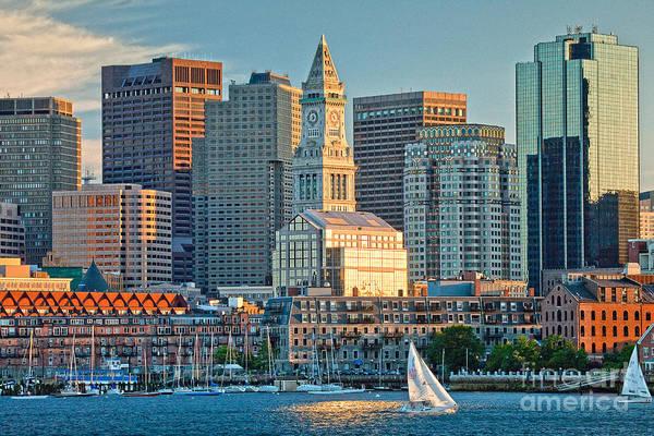 Boston Sunset Sail Poster