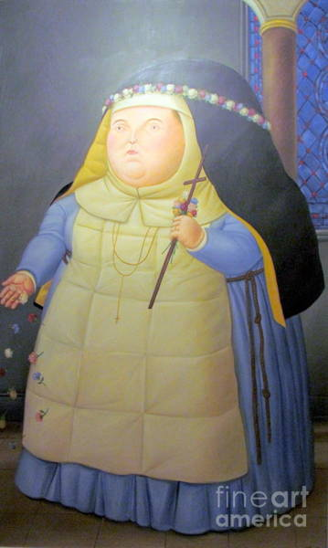 Botero Nunn In Blue Poster