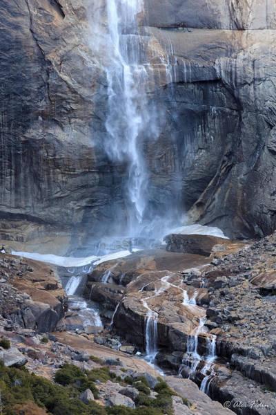 Bottom Part Of Upper Yosemite Waterfall Poster