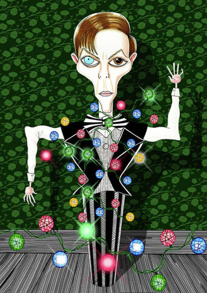 Bowie Christmas Tree  Poster