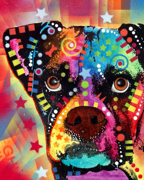 Boxer Cubism Poster