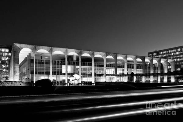 Brasilia - Itamaraty Palace - Black And White Poster