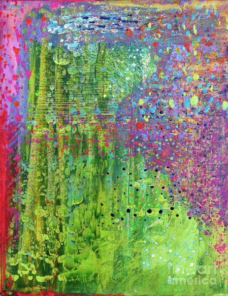 Abstract Green And Pink Poster