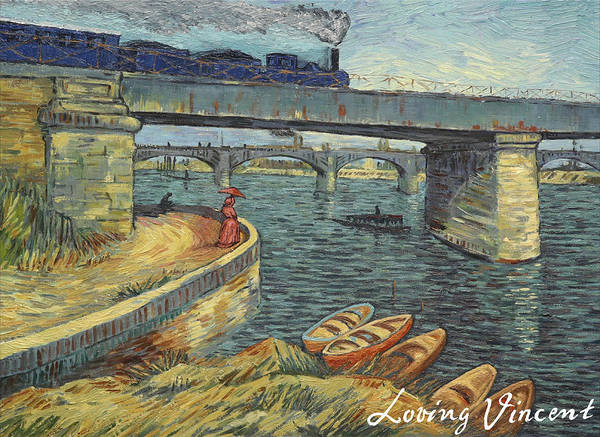 Bridge Across The Seine At Asnieres Poster