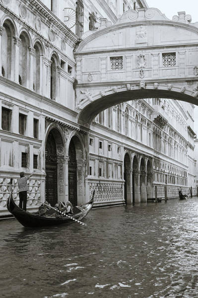 Bridge Of Sighs And Gondola, Venice, Italy Poster