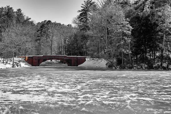 Bridge Over Frozen Waters Poster