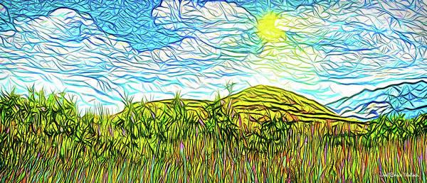 Bright Sky Summer - Field In Boulder County Colorado Poster
