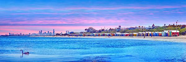 Brighton Beach Sunset Poster