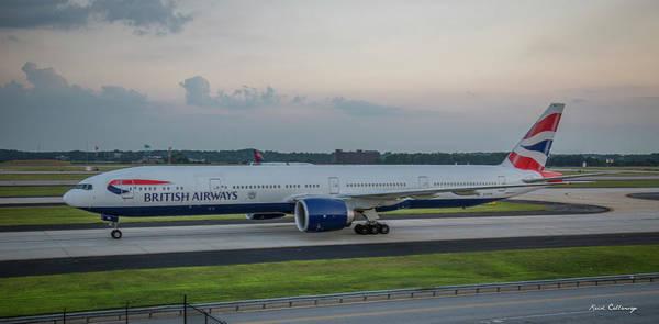 British Airways Jet Gstbl Hartsfield Jackson Atlanta International Airport Art Poster