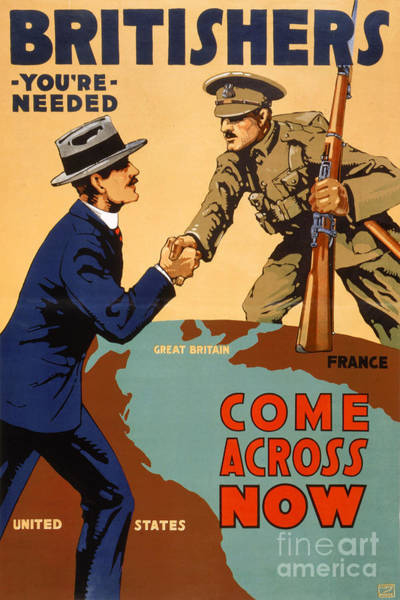 Britishers You're Needed Vintage Poster Poster