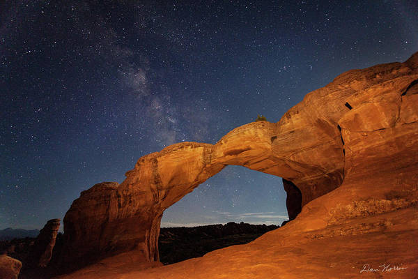 Broken Arch And Milky Way Poster
