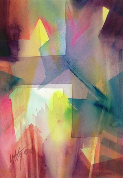 Poster featuring the painting Broken Geometry by Carolyn Utigard Thomas