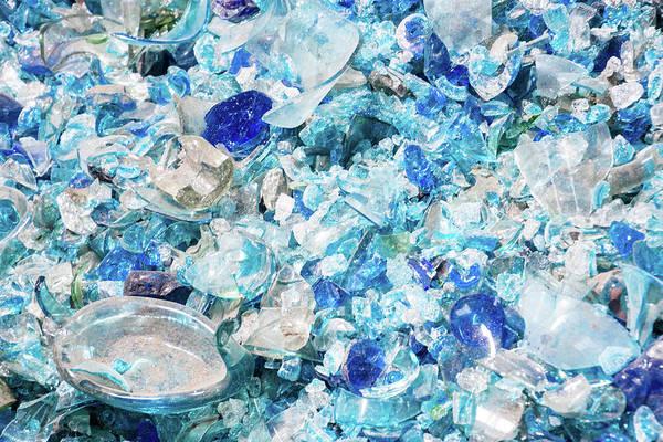 Broken Glass Blue Poster