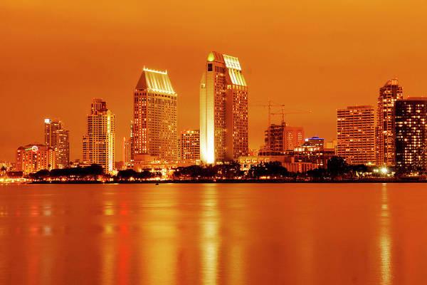 Bronze San Diego Skyline Poster
