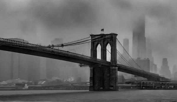 Brooklyn Bridge In A Storm 2 Poster