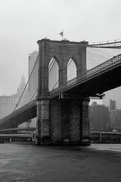 Brooklyn Bridge In A Storm Poster