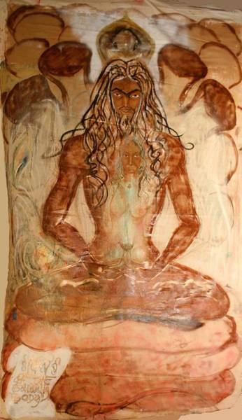 Poster featuring the painting Buddha Body by Brian c Baker