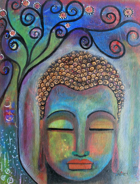 Buddha With Tree Of Life Poster
