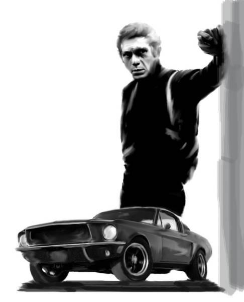 Bullitt Cool  Steve Mcqueen Poster