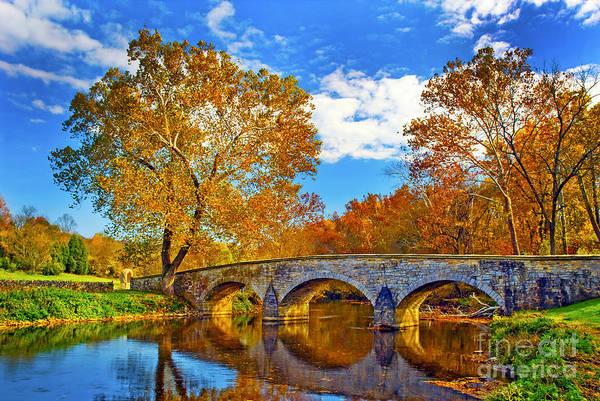 Burnside Bridge At Antietam Poster