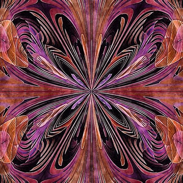 Poster featuring the digital art Butterfly Art Nouveau by Susan Maxwell Schmidt