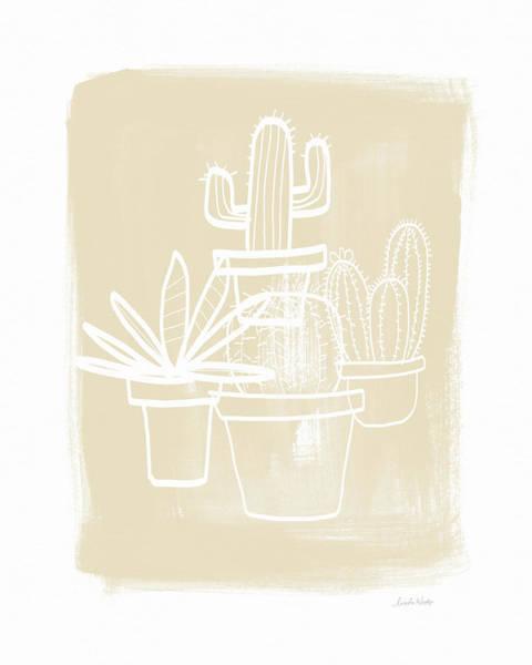 Cactus In Pots- Art By Linda Woods Poster