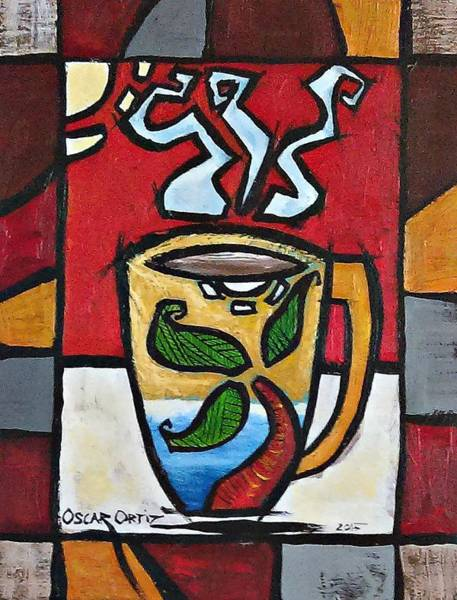 Poster featuring the painting Cafe Palmera by Oscar Ortiz