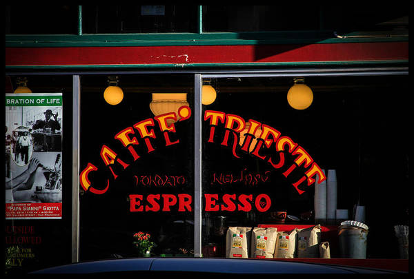 Caffe Trieste Espresso Window Poster