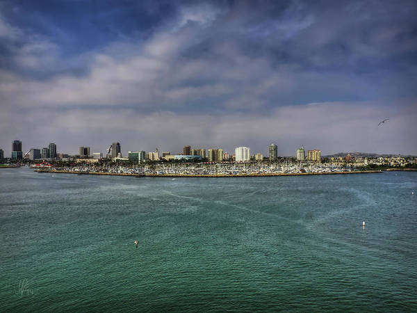 Poster featuring the photograph California - Long Beach 001 by Lance Vaughn