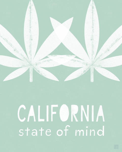 California State Of Mind- Art By Linda Woods Poster