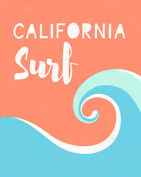 California Surf- Art By Linda Woods Poster