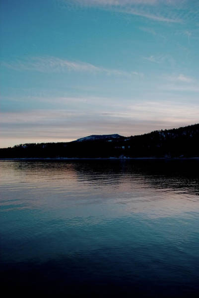 Calm Blue Lake Poster